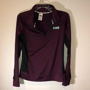 Pink Maroon and black Half Zip Pullover